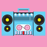 Retro cassette player Stock Photography