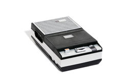 Retro Cassette recorder. Original Philips portable cassette recorder of sixties and seventies Royalty Free Stock Image