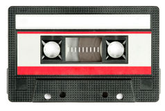 Retro cassette tape. Isolated on white background stock photo