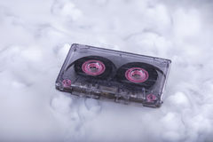 Retro cassette tape. Conceptual photography sound cloud Royalty Free Stock Photography
