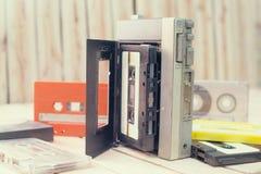 Retro cassette tape. Vintage Stock Image