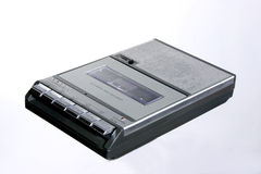 Retro Cassetterecorder stock afbeelding