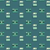 Retro cassettes and diskettes background royalty free illustration