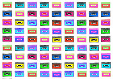 Retro cassettes texture Royalty Free Stock Photography