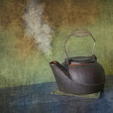 Retro cast-iron steamer Kettle Royalty Free Stock Photos