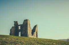 Retro castello rovinato disegnato Fotografia Stock