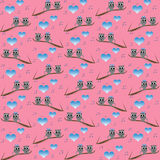 Retro cat kids pattern wallpaper background Stock Images