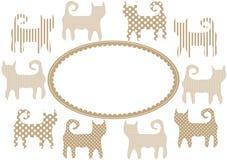 Retro Cats Invitation Card Stock Photo