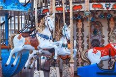 Retro cavallo del carosello Fotografie Stock Libere da Diritti