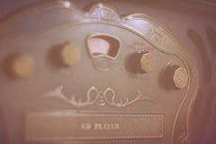 Retro CD-spelare Arkivfoton