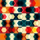Retro cell seamless pattern with grunge effect Stock Images