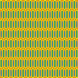 Retro Cells Pattern. Retro sixties or seventies wallpaper pattern Royalty Free Stock Photo