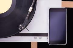 Retro cellulare del vinile Retro audio in studio Immagine Stock Libera da Diritti