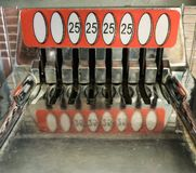 Retro 25 Cent Coin Slots Stock Photography