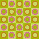 Retro cerchi e collage dei quadrati Fotografia Stock