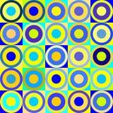 Retro cerchi e cubi Fotografia Stock Libera da Diritti