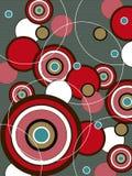 Retro cerchio rosso e marrone di schiocco Fotografia Stock
