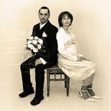 Retro cerimonia nuziale Fotografia Stock Libera da Diritti