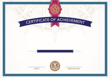Retro certificate design template. Stock Photography