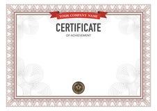 Retro certificate design template. Royalty Free Stock Photos
