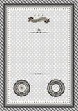 Retro certificato del modello con l'esempio delle guarnizioni Immagine Stock Libera da Diritti