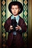 Retro chłopiec obrazy stock