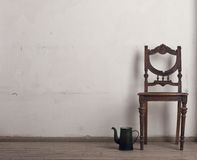 Retro chair and tea Stock Images