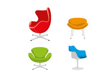 Retro chairs Royalty Free Stock Image