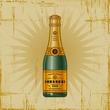 Retro Champagne Bottle Royalty Free Stock Photo