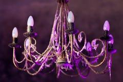 Retro chandelier Stock Images