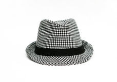 Retro- Checkered Fedora-Hut Lizenzfreies Stockbild