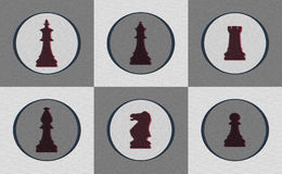Retro Chess Piece Icons Royalty Free Stock Images