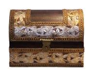 Retro chest isolated Royalty Free Stock Photo