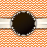 Retro Chevron Pattern and Ribbon with Badge Royalty Free Stock Photography