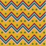 Retro chevron with stars pattern vector Royalty Free Stock Image