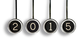 Retro 2015 chiavi Fotografie Stock