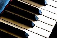 Retro chiavi del piano Fotografia Stock