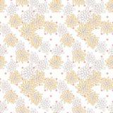 Retro chic flower pattern on fine polka dot. Stock Photo