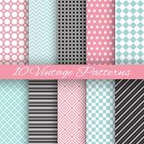 Retro chic seamless pattern Stock Photo