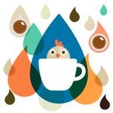 Retro Chick Coffee Stock Image