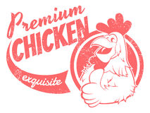 Retro chicken sign Stock Photo