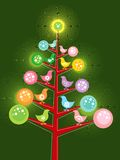 Retro chicks christmas tree Royalty Free Stock Photo