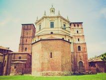 Retro chiesa di San Lorenzo di sguardo, Milano Fotografia Stock