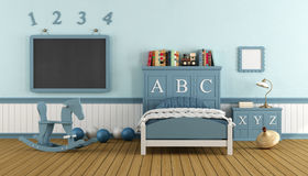 Retro child bedroom Stock Images