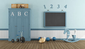 Retro child playroom Stock Images