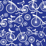 Retro children's bicycle seamless pattern  Stock Photos
