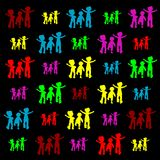 Retro children silhouettes Royalty Free Stock Photos