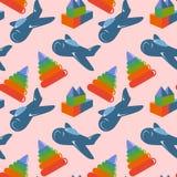 Retro children toys seamless pattern Royalty Free Stock Photos