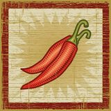 Retro chili pepper Royalty Free Stock Image