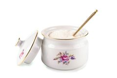 Retro china  on a white background Royalty Free Stock Photo